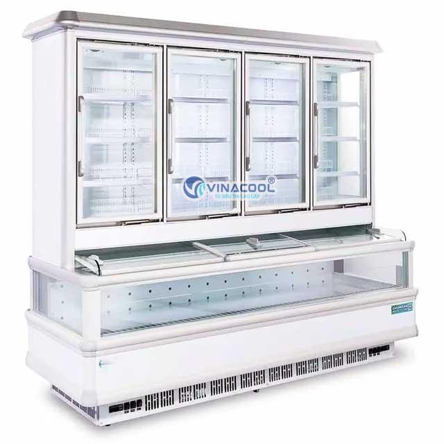 Tủ siêu thị 2 chế độ trên mát dưới đông