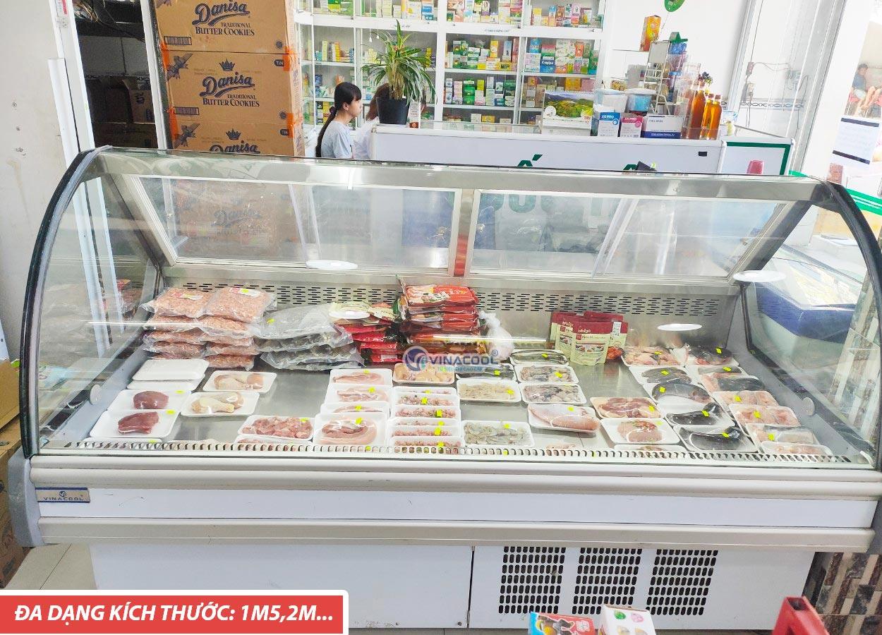 tủ mát trưng bày thịt tươi siêu thị
