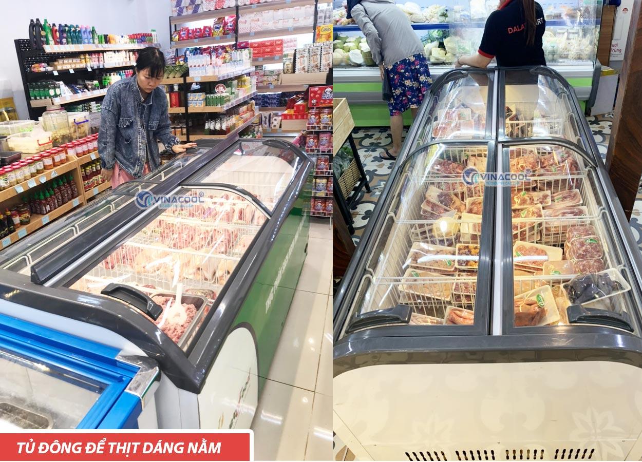 tủ đông siêu thị dáng nằm