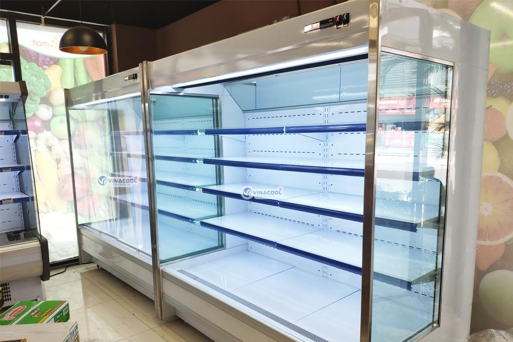 tủ mát siêu thị block ngoài