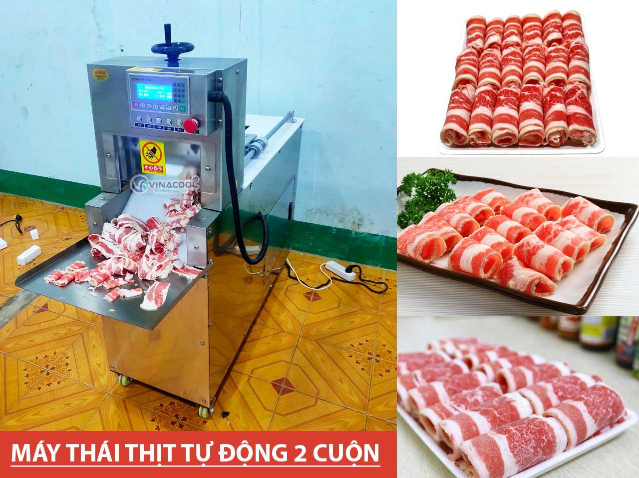 máy thái thịt bò đông lạnh Trường Phát
