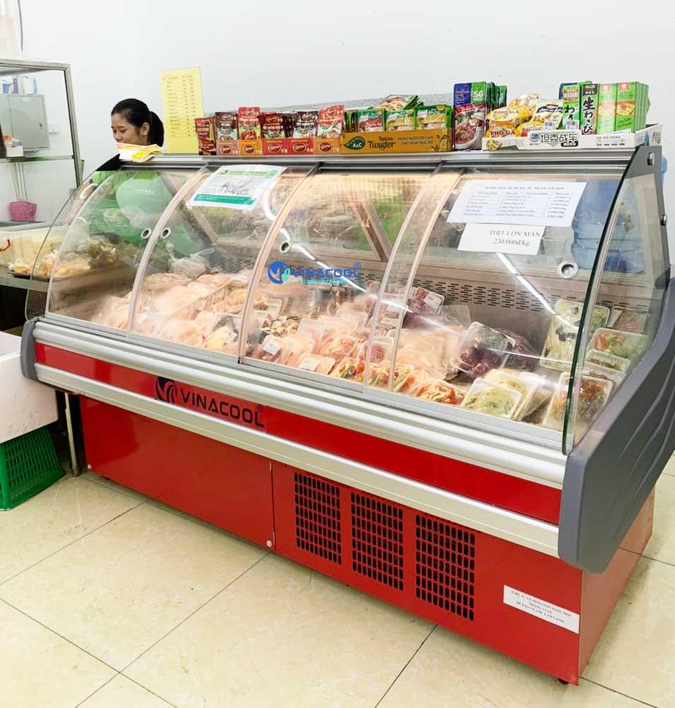 tủ mát trưng bày thịt tươi dài 2m