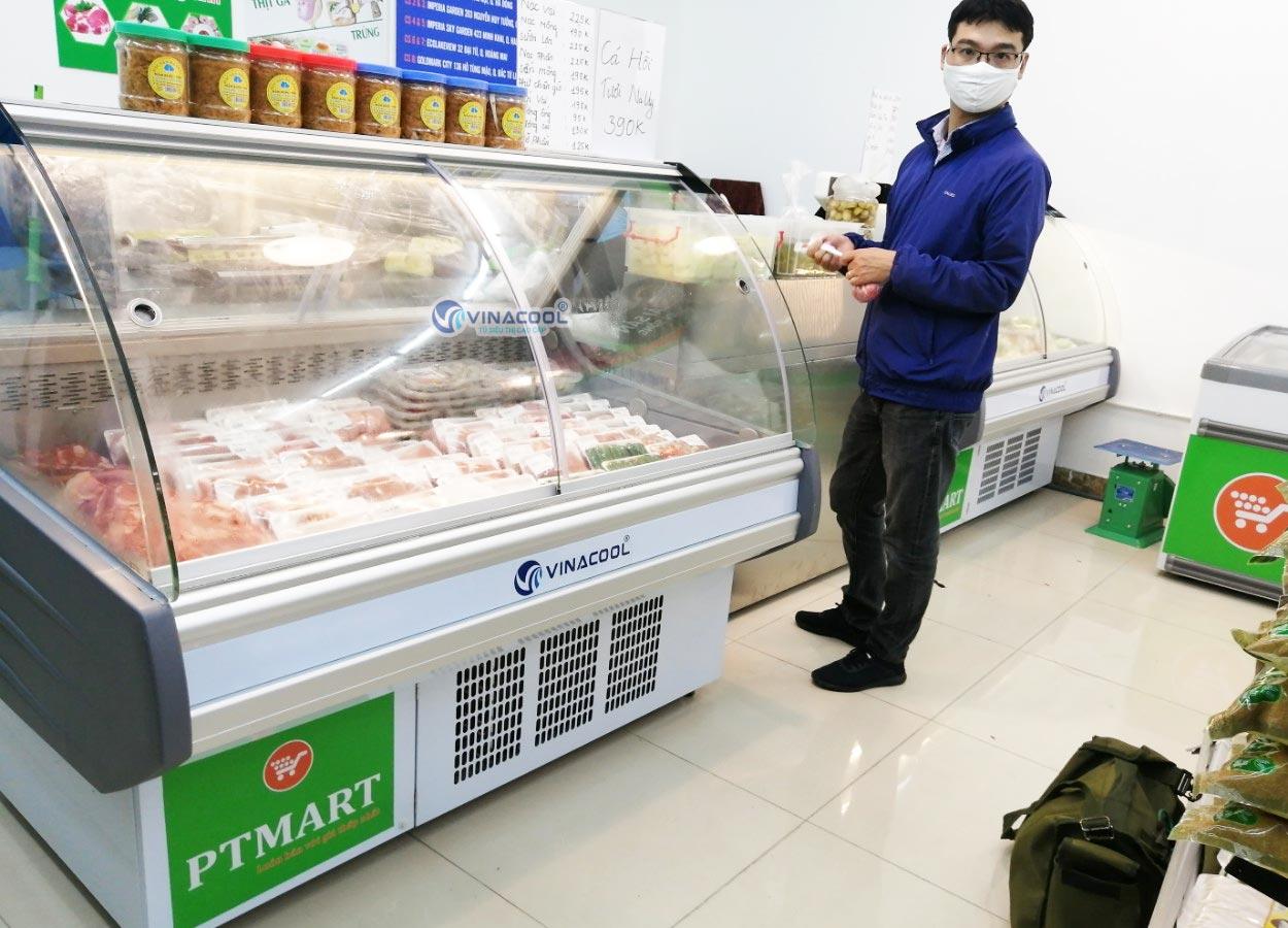 Tủ trưng bày thịt tươi cá hồi