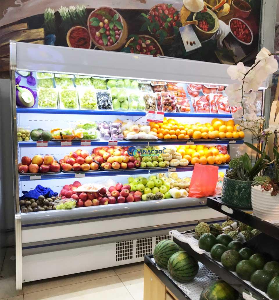 tủ bảo quản trái cây không cửa