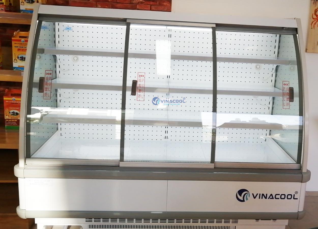 tủ mát trưng bày thực phẩm siêu thị 4 tầng