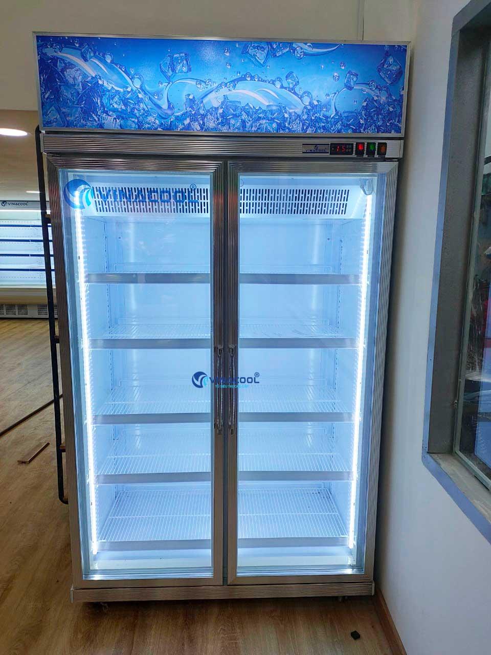tủ đông đứng 2 cánh kính