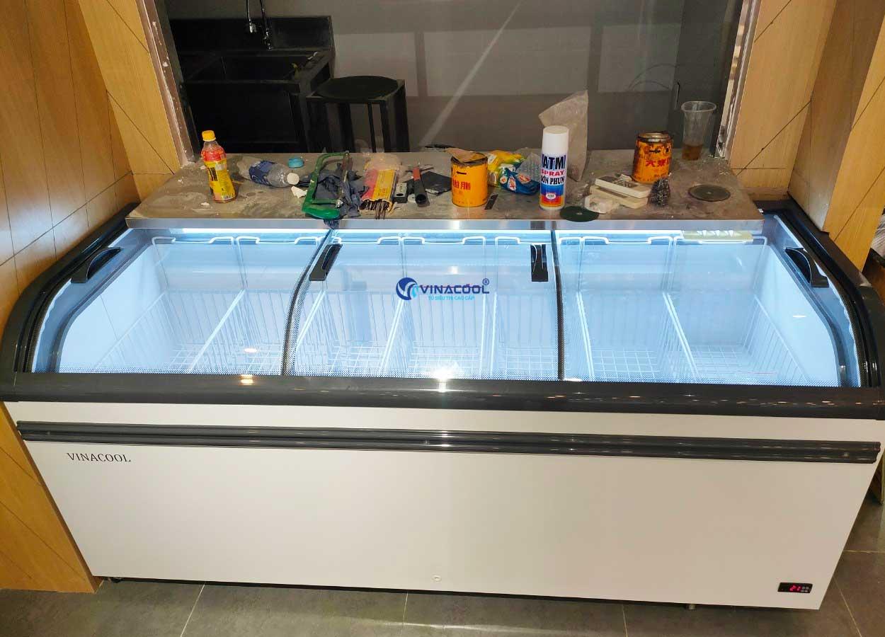 tủ đông trưng bày hải sản dài 2m