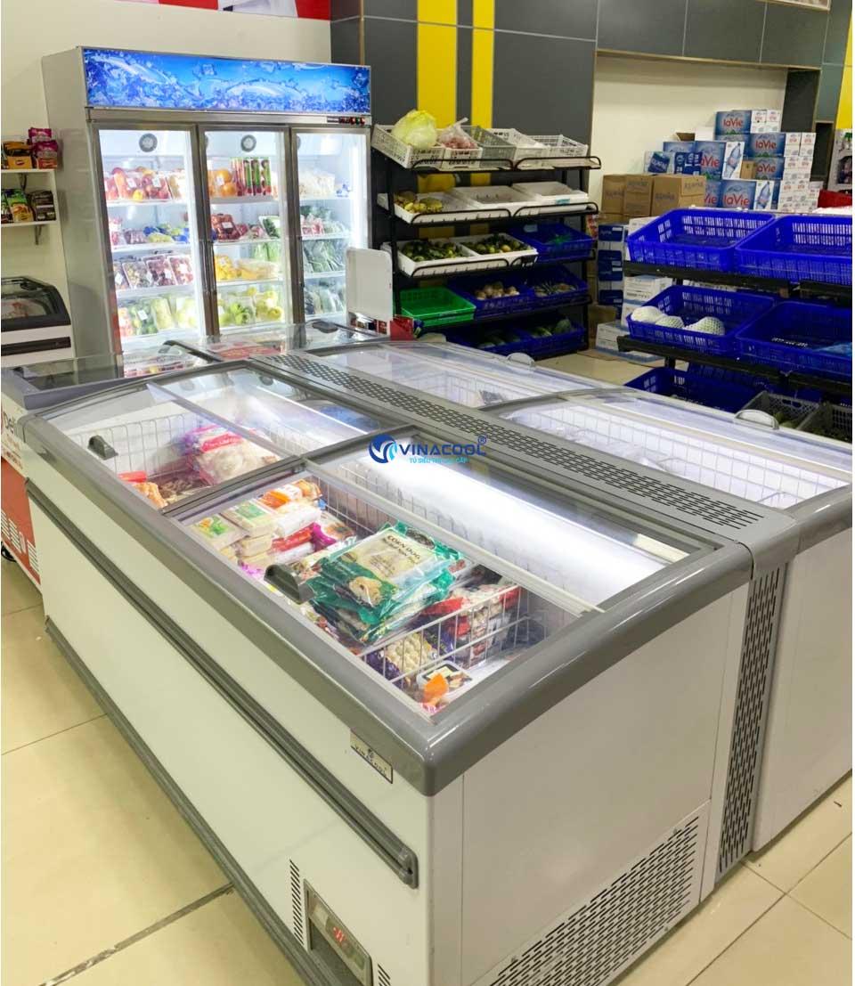 tủ đông trưng bày thực phẩm dài 2m1