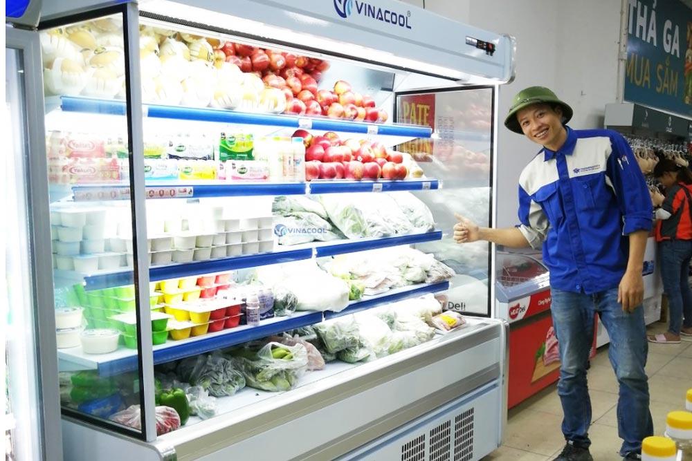 tủ để rau củ quả không cửa