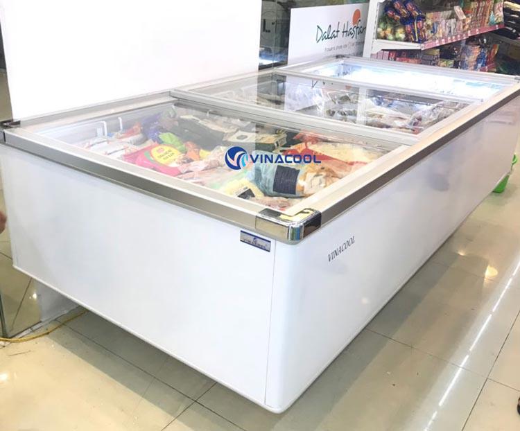 Tủ đông trưng bày mặt kính phẳng dài 2m6 Vinacool