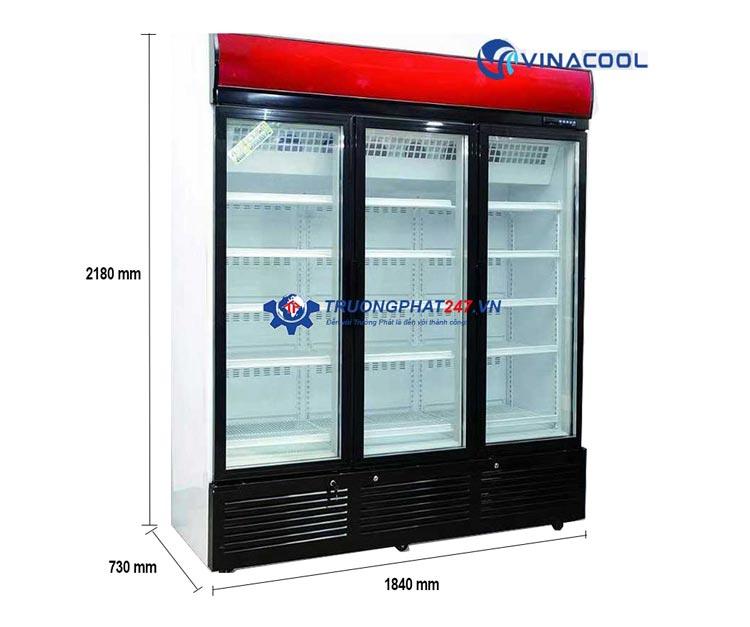 Tủ đông đứng mặt kính 3 cánh Vinacool
