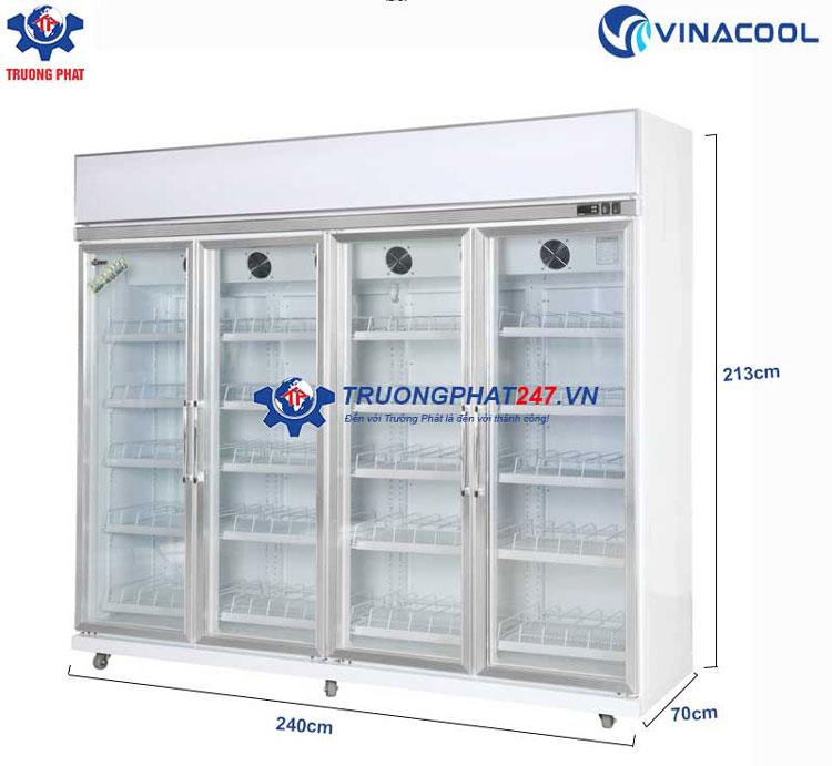 Tủ mát 4 cánh kính có sấy Vinacool