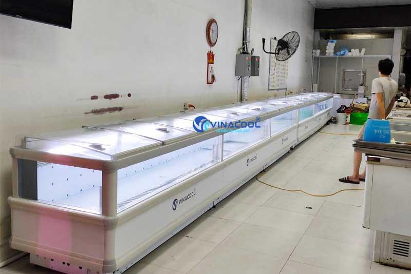 Tủ đông 4 mặt kính chiều dài không giới hạn Vinacool