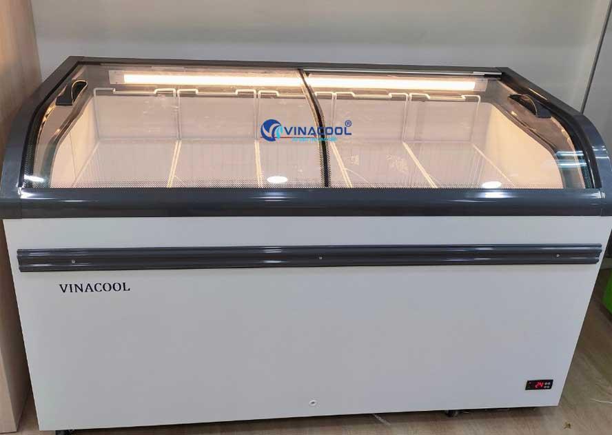 Tủ đông trưng bày đơn 2 cánh kính cong Vinacool