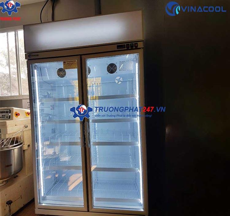 Tủ mát 2 cánh kính có sấy Vinacool