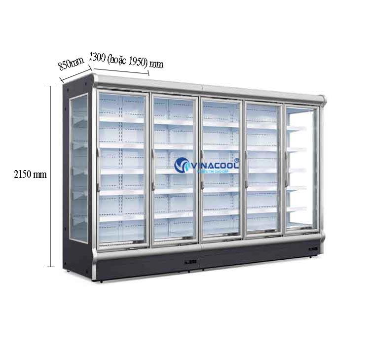 Tủ mát bảo quản thực phẩm có cánh kính cao cấp Vinacool
