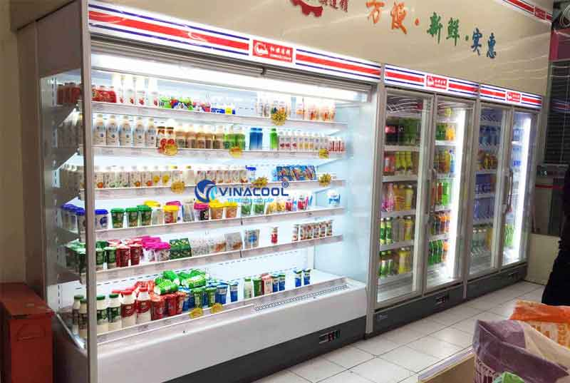 Tủ mát siêu thị không cửa hiện đại Vinacool