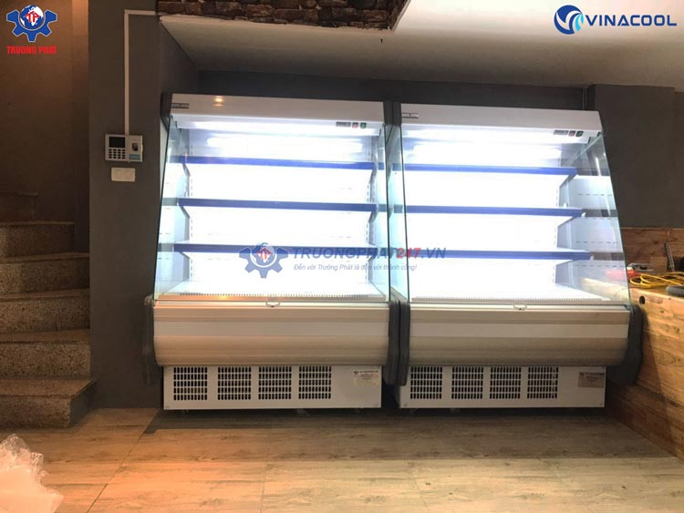 Tủ mát trưng bày thực phẩm vòm cong 4 tầng Vinacool