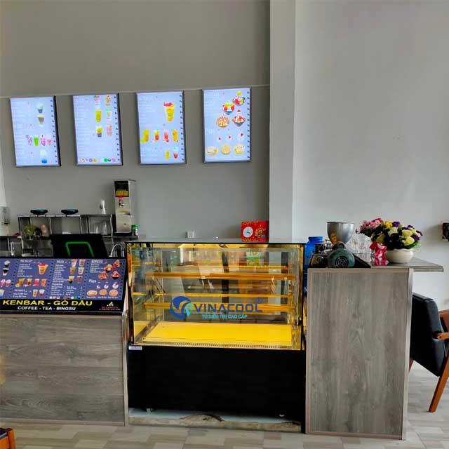 Tủ bảo quản bánh sinh nhật kính vuông 3 tầng Vinacool