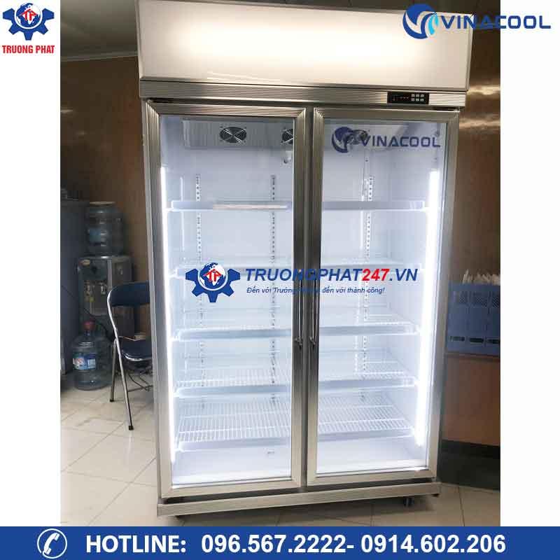 Tủ mát 2 cánh kính trưng bày hoa quả nước ngọt Vinacool LG-126