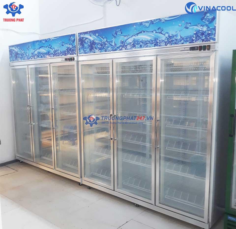 Tủ đông trưng bày thực phẩm 3 cánh kính Vinacool SLD-1800FS